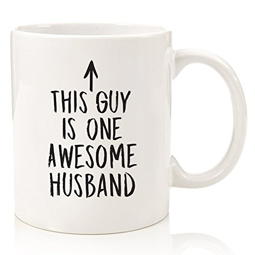 Fun Novelty Cup For The Mr Hubby Partner Best Birthday Or Anniversary Gifts Husband Men Him Unique Present Idea From Wife 11 Oz Ceramic White